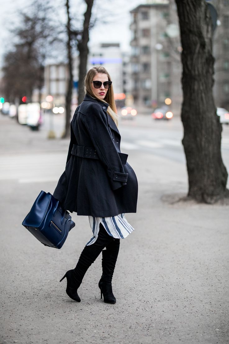 Black & Blue Street Style outfit