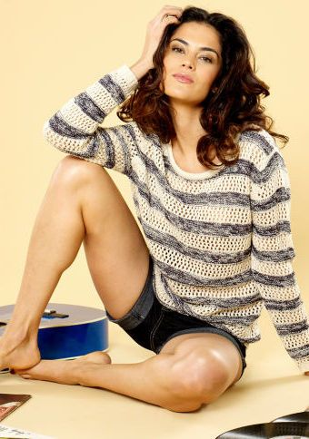 Ažurový pulovr s dlouhými rukávy #ModinoCZ #sweater #jumper #stripes #fashion #moda #svetr #pruhovany