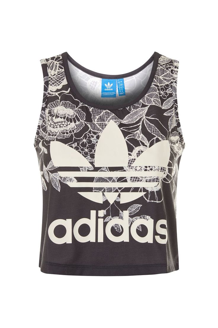 Floral Cropped Tank Top by Adidas Originals - Tops - Clothing - Topshop USA