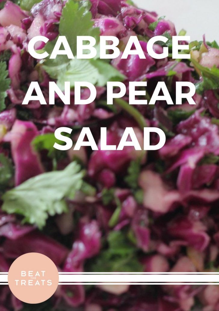 Cabbage and Pear Salad | Lunch Recipes | Allergies Friendly Recipe | Diary Free | Gluten Free | Refined Sugar Free | Soy Free