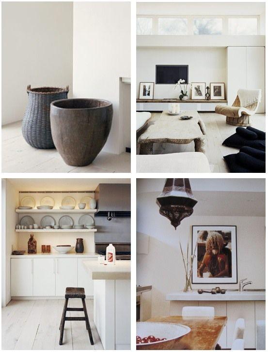 natural modern interiors: Natural modern design by Lisa Coulburn