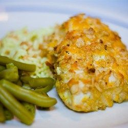 This piquant, creamy chicken is a surprising combination of ranch dressing, bacon bits, teriyaki sauce and Cheddar cheese.  The recipe is easily expanded to feed a crowd.