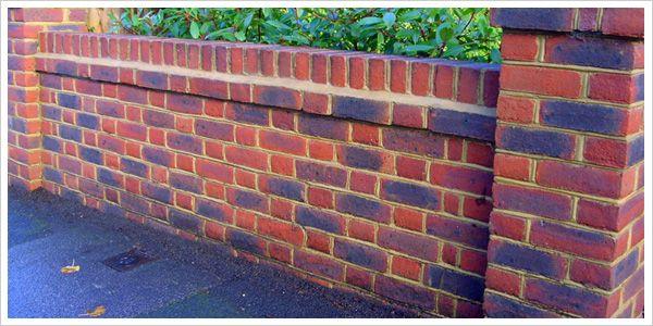 garden brick wall design - Google Search