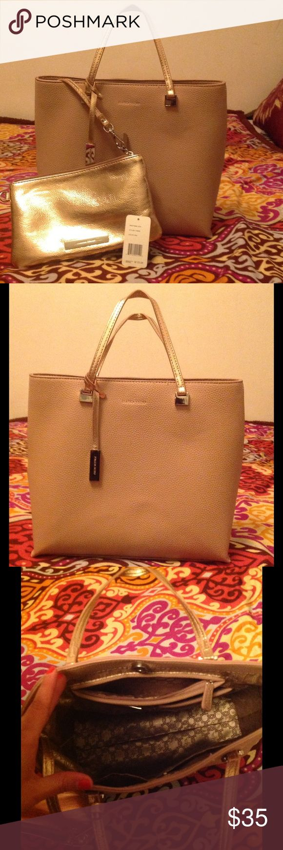"❣Elegant Ivanka Trump lady bag💕 Beautiful Ivanka Trum lady bag. Great for work or just going out. In very good condition. Cosmetic bag included. In excellent condition. Simulated leather. 4 small pockets inside. It's really a lovely bag. Color is cream-rose, or nude. Measurements tall 11"". Long 12"". Wide 4"". My home is pets and smoke free. Bundle and save 15% and get a present 💋❣🌸🙂 Ivanka Trump Bags"