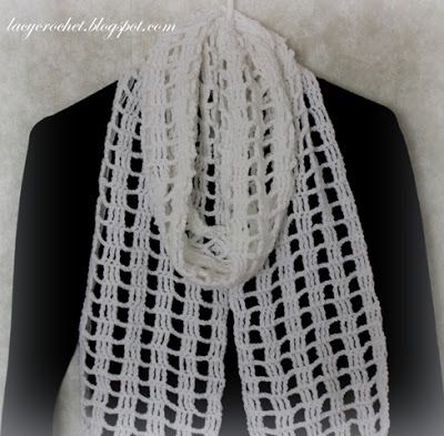 Quick And Easy Crochet Scarf My Free Pattern Lacy