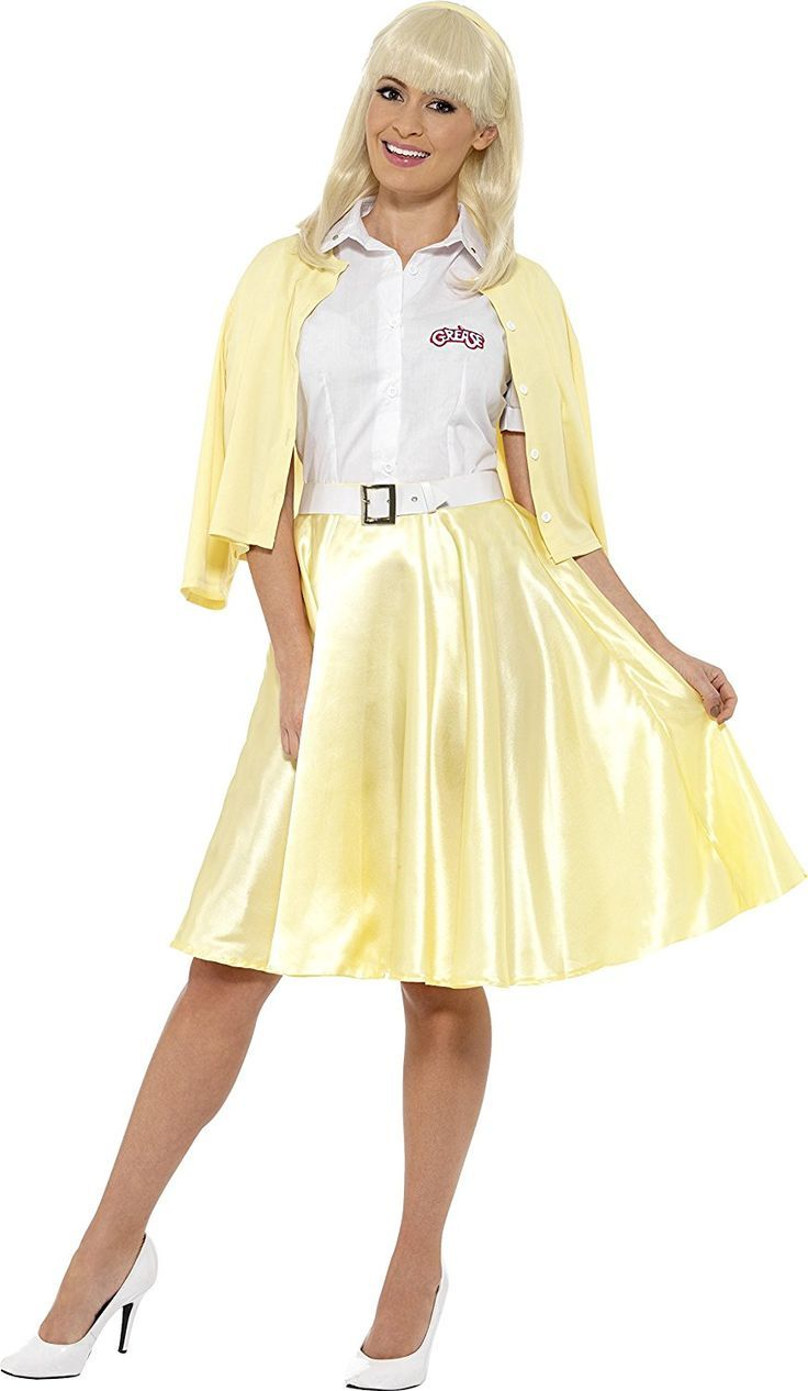 50s Grease Sandy Costume Yellow skirt sweater blouse set  1950s  costume   halloween 57e8255bb2b3a