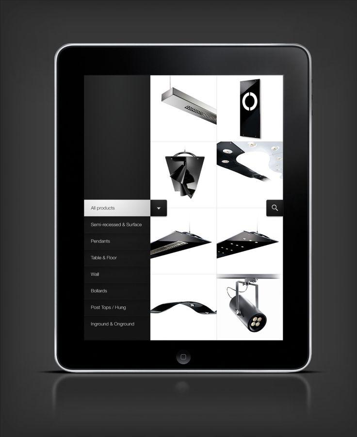 Targetti iPad app - Pelle Martin #iPad #UI