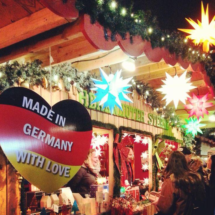 """1st visit back to @VanChristmas German market since it began & has it ever improved. And, they have Currywurst! :) "" - Heather McGillivray #mybrilliantstar #herrnhutstar #moravianstar #christmas #decoration #vancouverchristmasmarket"