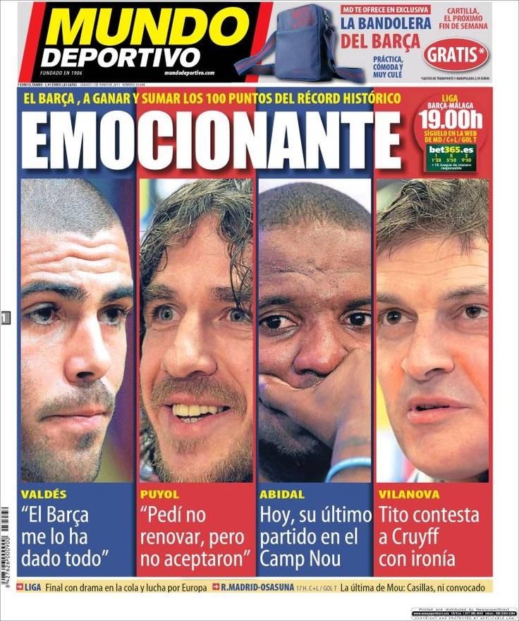 Los Titulares y Portadas de Noticias Destacadas Españolas del 1 de Junio de 2013 del Diario Mundo Deportivo ¿Que le parecio esta Portada de este Diario Español?
