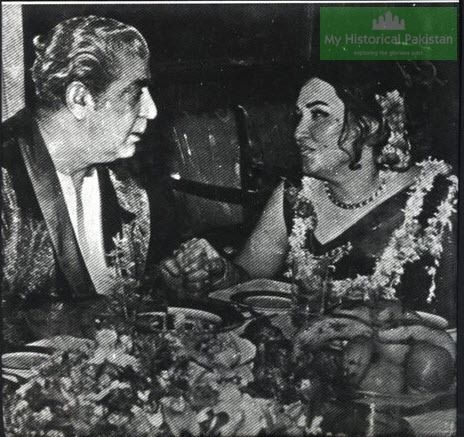 Yahya Khan and Noor Jehan.  Noor Jehan was the topic of many books, and her scandals with former military dictator General Yahya Khan made front page news.  In the Hamood-ur-Rehman Commission report into the fall of Dacca in 1971 (leading to the establishment of Bangladesh), Noor Jehan's role in breaking up the country receives a whole chapter.