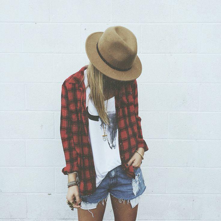 tee + shorts + hat