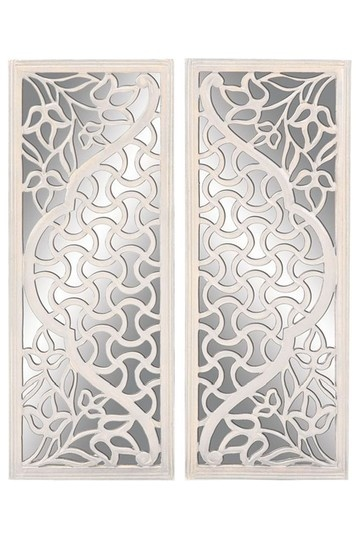 Wood Mirror Wall Decor - Set of 2 by Home Decor Blowout on @HauteLook