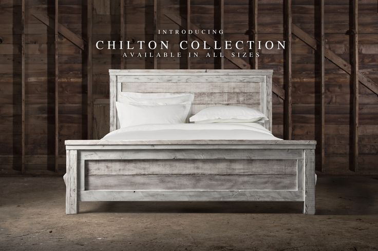 Our Reclaimed Chilton Bed. This rustic farm bed is handcrafted from reclaimed weathered barn wood. The plank design and mixture of tones and textures give it a distinct rustic feel. Each piece celebrates the unadorned beauty of salvaged wood. Our reclaimed barn farmhouse bed is truly transitional. And now the best part, it can be made in any size needed -- King, Queen, Full or Twin.  #reclaimed #bed #fraservalleycraftsmen #furniture #barnwood #salvaged #restorationhardware #wood