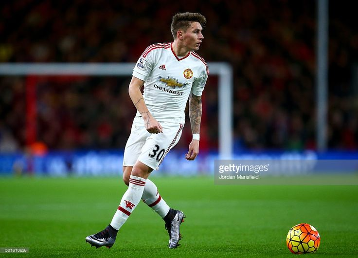 Guillermo Varela of Manchester United in action during the Barclays Premier League match between A.F.C. Bournemouth and Manchester United at the Vitality Stadium on December 12, 2015 in Bournemouth, United Kingdom.