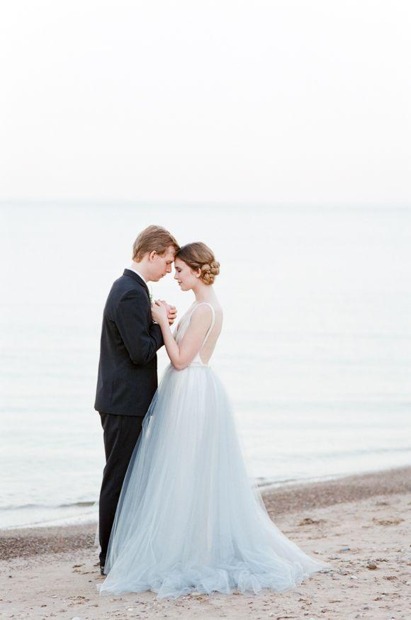 Coastal Elopement in a Tulle Gown | Wedding Sparrow | Tamara Gruner Photography