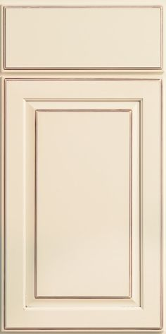 Merillat Classic Somerton Hill Cabinet Door In Cream Chiffon Paint With Desert Glaze On Maple