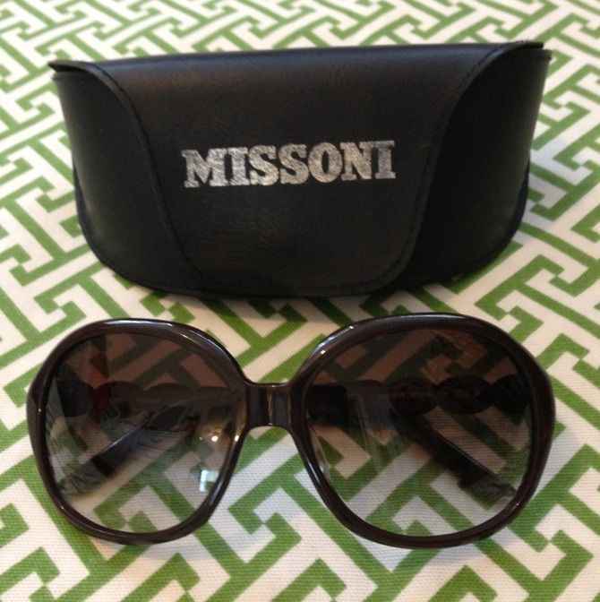 Authentic Missoni Sunglasses ~ Oversize Frame ~ MI639 MI639-03  | eBay