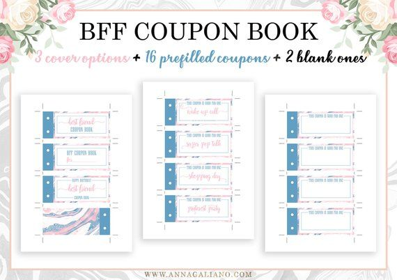 image about Friendship Coupons Printable called Least complicated Buddies Reward Printable Discount codes Coupon Ebook Birthday