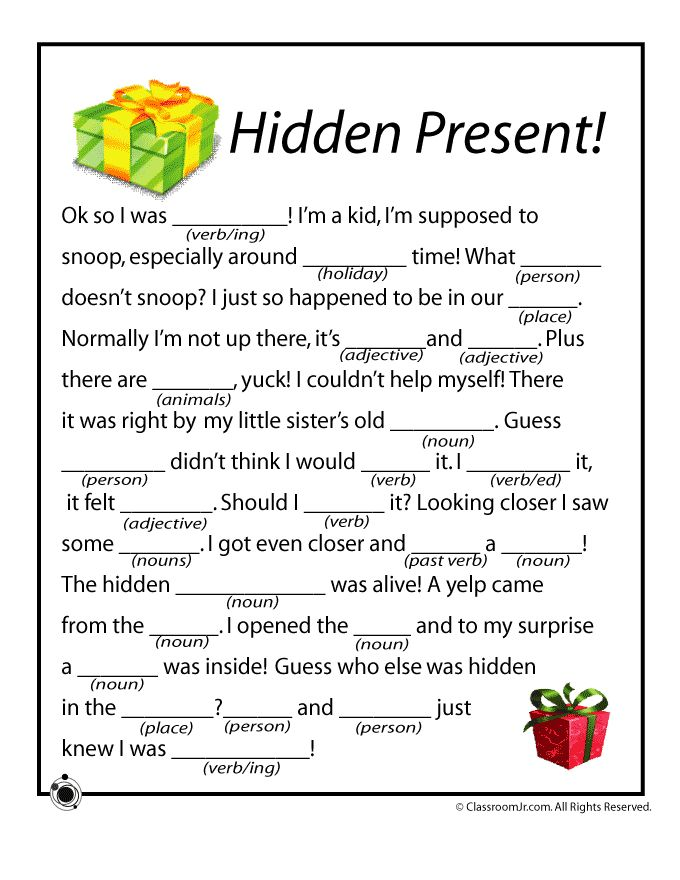 Christmas Mad Libs Christmas Mad Libs - Hidden Present! – Classroom Jr.