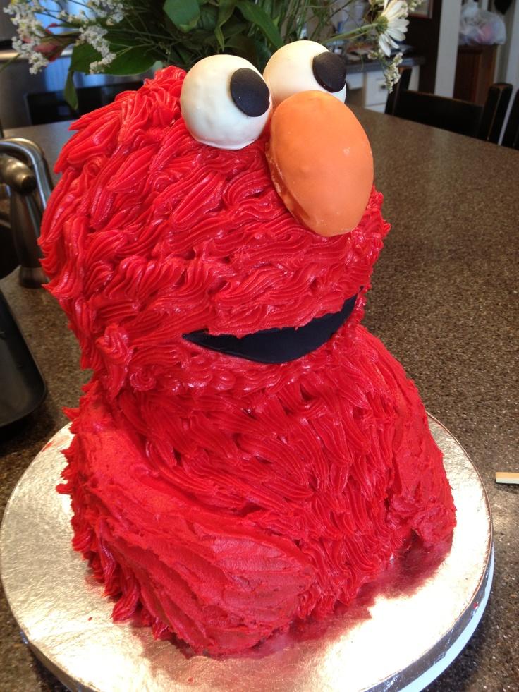 Elmo Birthday Cake  Sweeties by Sandra  Pinterest  Birthday cakes ...