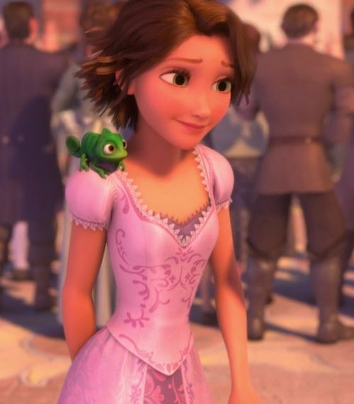 rapunzel's brown hair, possible costume for when I'm growing my hair out
