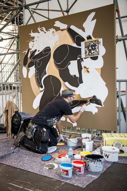 URBAN NATION @ LOLLAPALOOZA 2016  Dome working on his canvas #dreamscape #urbannationberlin #DEIH #LoraZombie #LUDO #SHOK1 #DOME #MarinaZumi #TristanEaton #curiot #moneyless #Urbannation #urbanart #streetart #art #berlin #museumberlin #streetartberlin #urbanartberlin #lollapalooza #lolla #lollaberlin #festival #music #summer #lollapalooza2016