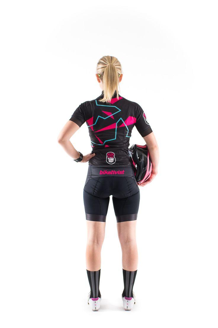 Biketivist - The Sharp Wicked Pink Jersey #LookRadNotPretty #BornToRide #Biketivist #Jersey #Cycling #Women #Apparel
