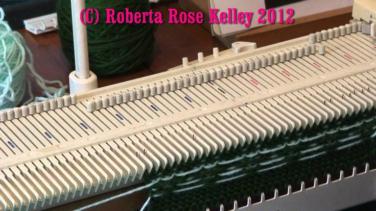LK150 ~ KX350 Fair Isle 2   Brother Knitting Machine Model KX-350 ...