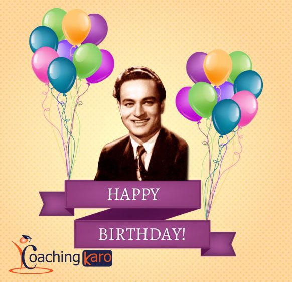 #Mukesh was an Indian Playback Singer of Hindi Movies and Today his 93rd Birth anniversary.   #93rd_birthday #Happybirthdaymukesh #Coachinkaro