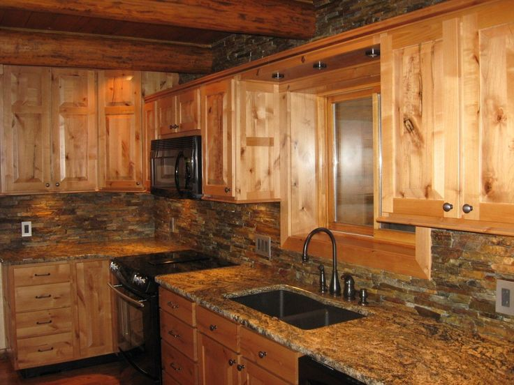 Best 25 knotty alder kitchen ideas on pinterest rustic for Cabin kitchen backsplash ideas