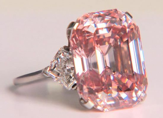pink diamond  - sold at Sothebys for 10.9 million dollars WoW anyone wanna buy this bling for me lol