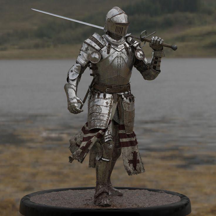 ArtStation - Medieval Knights Models - Crowd - Turntable video., David Munoz Velazquez