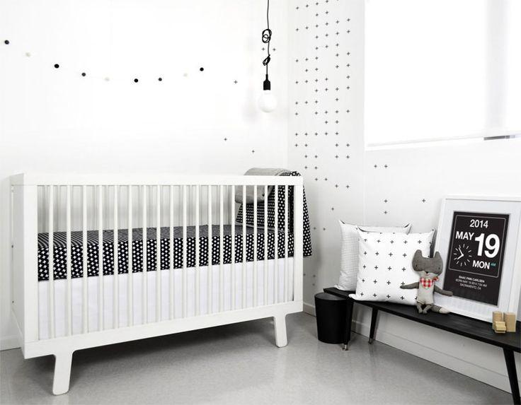 black white nursery modern crib baby girl bedding sets elephant