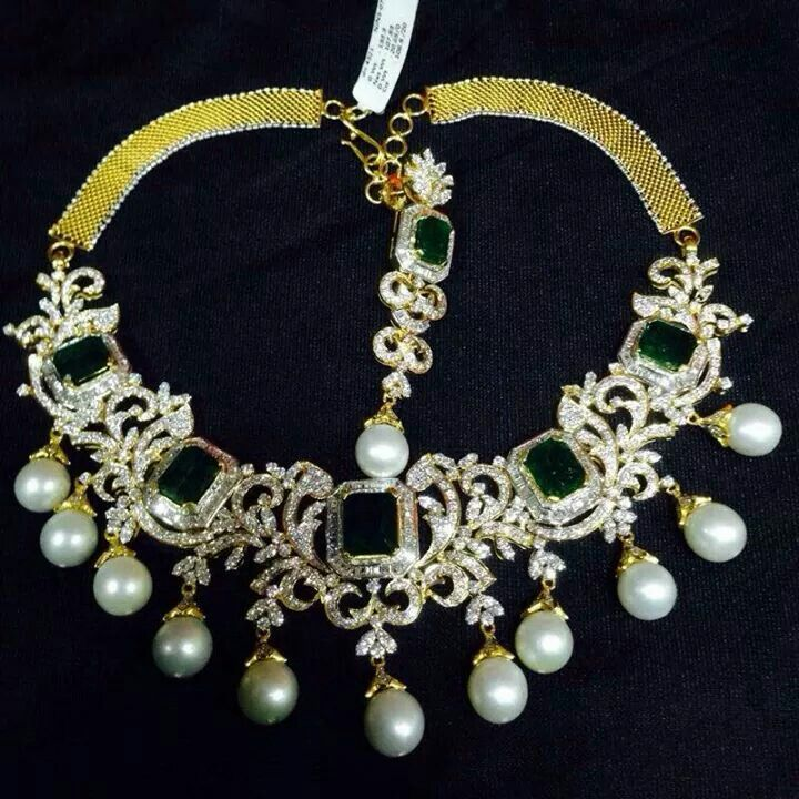 Balaji jewellers diamond necklace