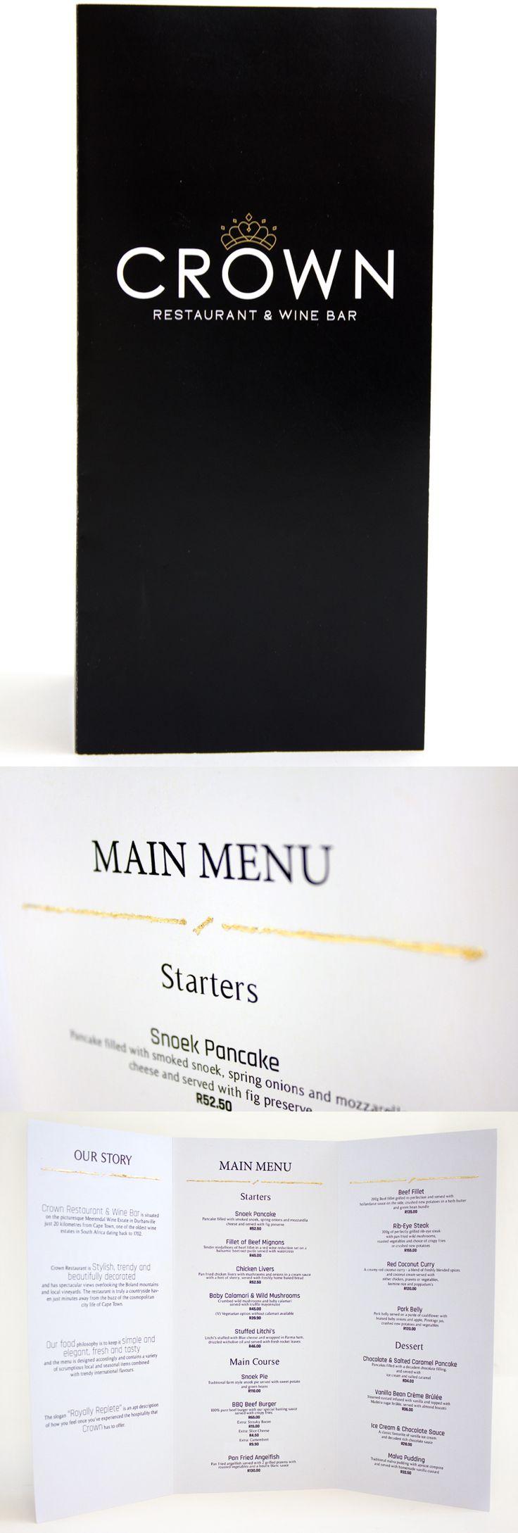 Class: 1 Year Print Design & Publishing || Name: Micke Mouton || Year: 2014 || Recreate your favorite restaurants menu. http://friendsofdesign.net/1-year-print-design-publishing