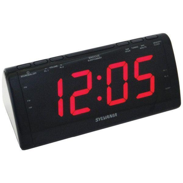 sylvania scr1206b jumbodigit dual alarm clock radio