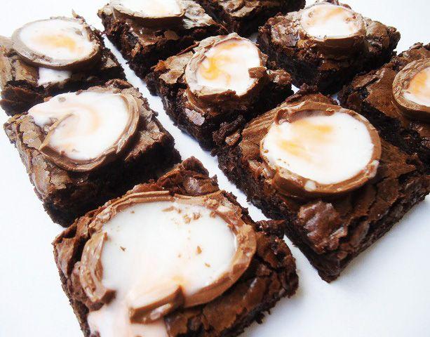 Cadbury Creme Egg Brownies... Yuuuuummmmm