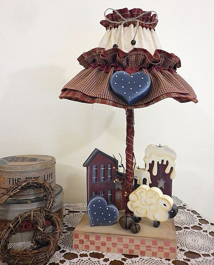 Country lamp - would be cute with several diff animals for child's room