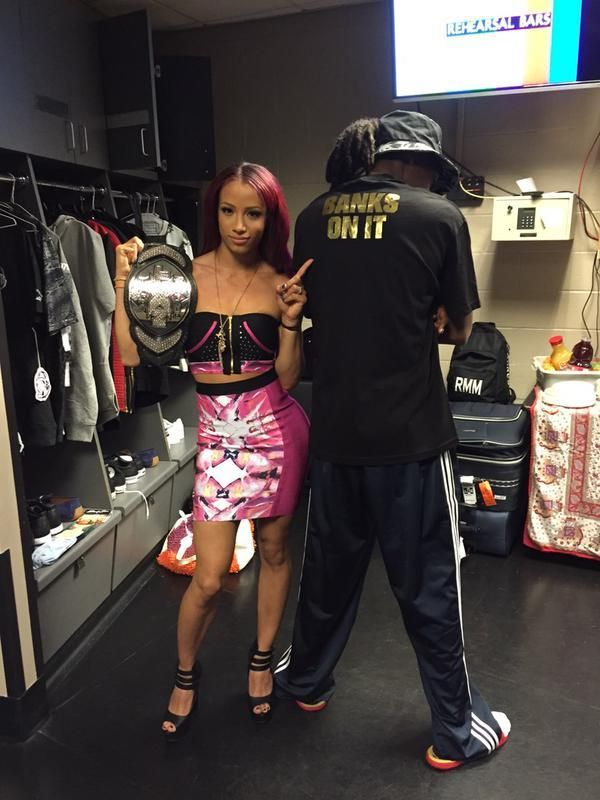 Sasha Banks and her uncle Snoop Dogg.