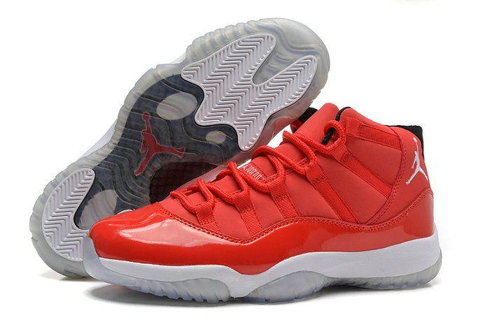 Authentic Cheap Air Jordan 11 Cheap redbody whitebottom jordan retro 11 shoe  for sale   Popular Jordan Sneakers   Pinterest   Jordan 11, Air jordan and  ...