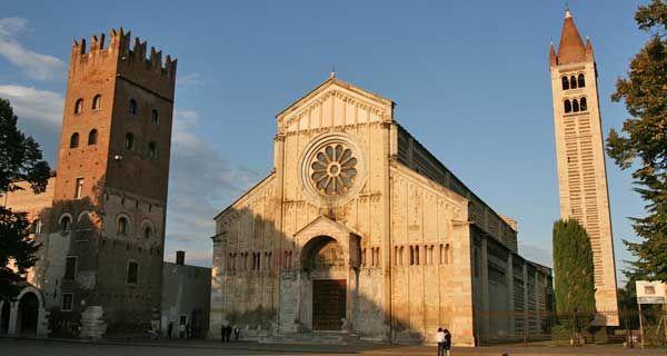 La Basilica di San Zeno a Verona è uno dei capolavori del romanico in Italia. Si sviluppa su tre livelli e l'attuale struttura fu impostata nel X-XI secolo. Il nome del santo viene talvolta riportato in altri due modi, e così viene talvolta nominata la basilica di Verona: San Zeno Maggiore o San Zenone. Tra le numerose opere d'arte, ospita un capolavoro di Andrea Mantegna, la pala di San Zeno. Nel maggio del 1973 papa Paolo VI l'ha elevata alla dignità di basilica minore.