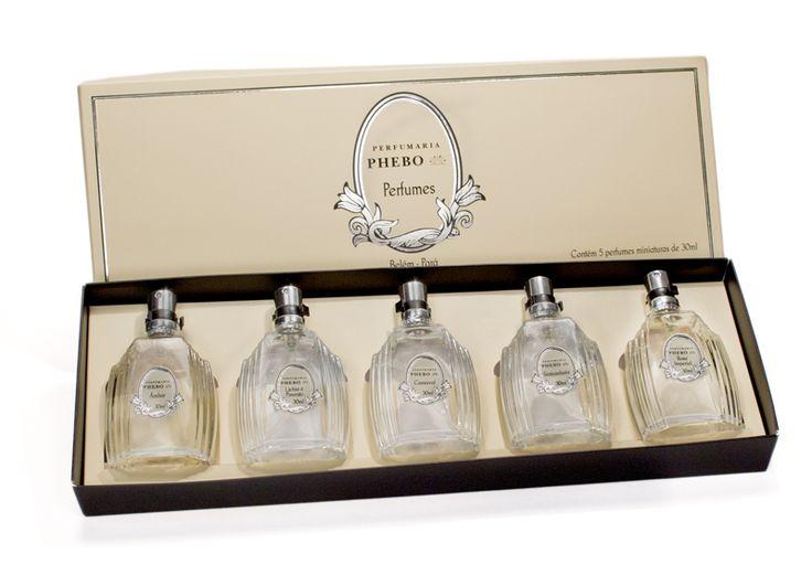 Kit de miniaturas dos perfumes da Granado