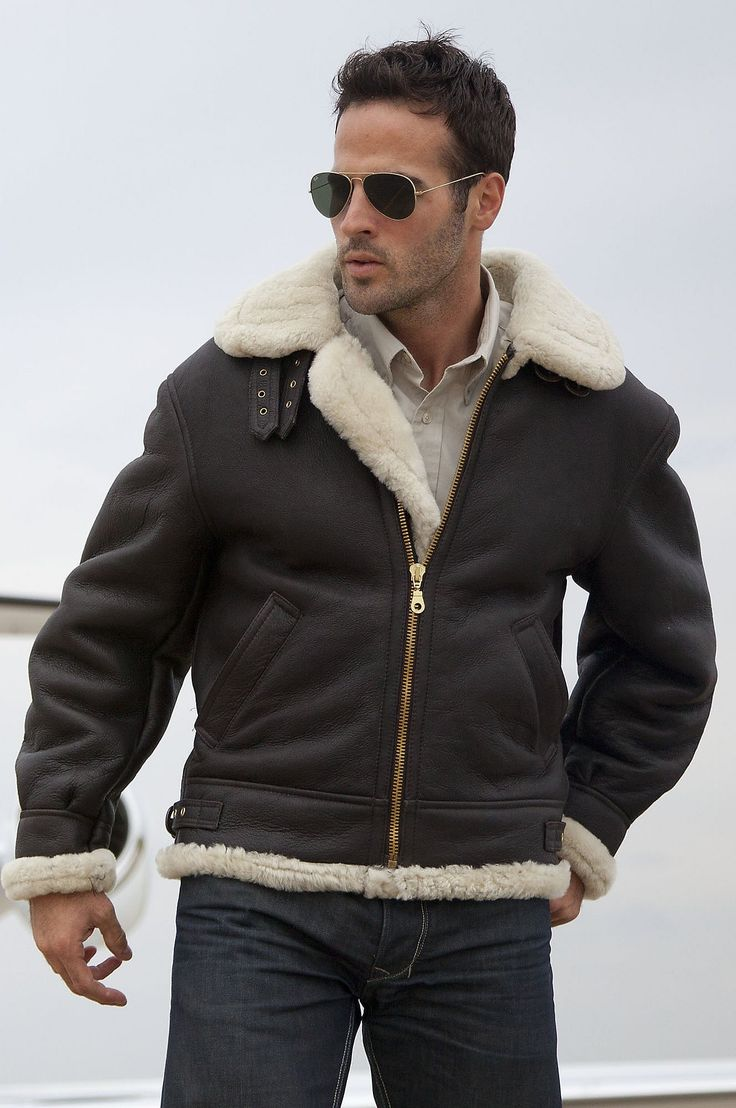 B3 shearling sheepskin raf wwii bomber leather flying aviator jacket - Our Classic Sheepskin Leather Bomber Jacket Is A Timeless Heavyweight Modeled After The Original Wwii Shearling Jackets
