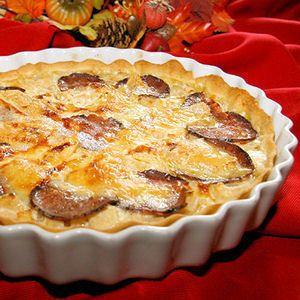 Tarte à l'andouille, aux pommes et au camembert : 35 recettes de quiches et tartes d'hiver - Journal des Femmes Cuisiner