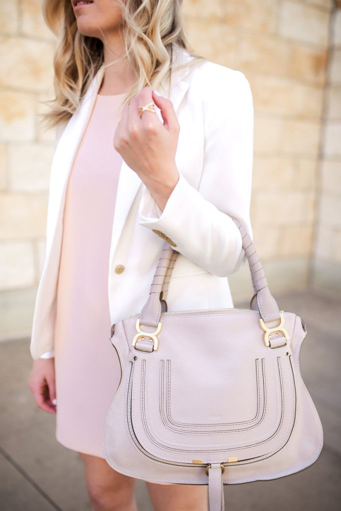 Spring and Summer Handbags - Chloe Marcie Off-White Satchel Bag