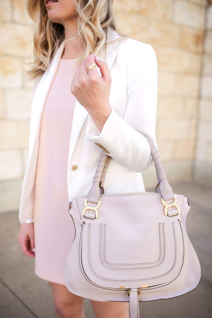 Spring and Summer Handbags - Chloe Marcie Off-White Satchel Bag