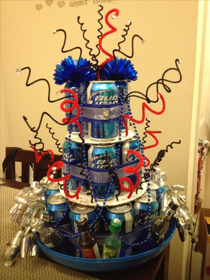 Beer can birthday cake! | Gift ideas | Pinterest