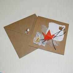 orijuju  Origami and collage original handmade card.  Artwork to frame.  Carte en origami et collage faite à la main unique et originale.  œuvre à encadrer.  disponible/available:  https://www.alittlemarket.com/page/creation/list.php