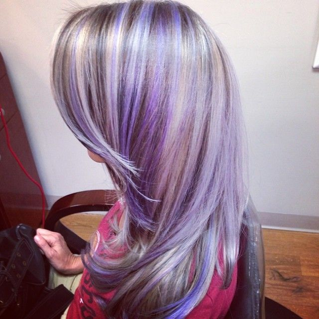 violet highlights   Hair Love...   Pinterest