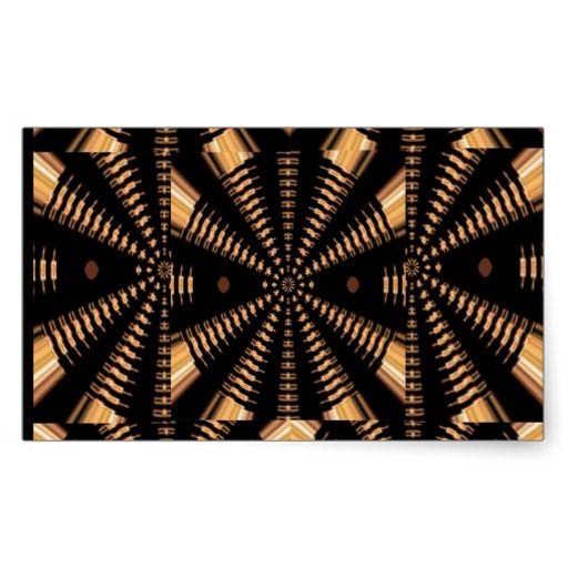 RADIAL Golden Spring PILLARS Elegant Deco GIFTS Rectangular Sticker